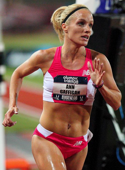 Ann Gaffigan at the 2008 U.S. Olympic Track & Field Trials - Photo by B. Zyrogerg